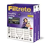3m air filter replacement - Filtrete MPR 1550 20 x 25 x 4 (4-3/8 Actual Depth) Healthy Living Ultra Allergen Deep Pleat HVAC Air Filter, Attracts Microscopic Particles, Delivers Cleaner Air Throughout Your Home, 2-Pack