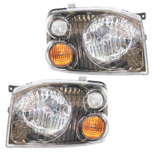 01-04 Nissan Frontier SE SC Pickup Truck Headlights Headlamps Pair Set (Nissan Frontier Headlamp compare prices)