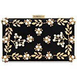 Milisente Women Clutches Pearls Evening Bag Clutch Purse Bags