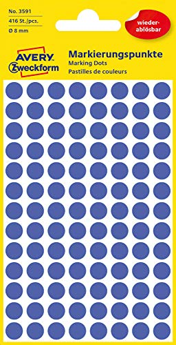 ett 8mm Marking Dots Blue–Removable Wall Stickers–416ST ()