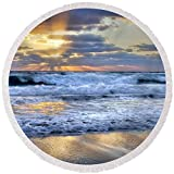 Pixels Round Beach Towel With Tassels featuring ''Window To Heaven'' by Debra and Dave Vanderlaan