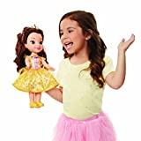 Disney Princess Belle Doll Beauty and the Beast Sing & Shimmer  Toddler Doll, Princess Belle Sings 'Something There' when you press her Jeweled Necklace [Amazon Exclusive]