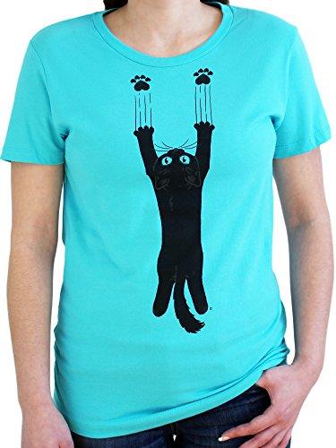 Paw Addict Women's Scratch Cat T-Shirt (Large)