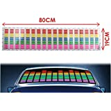 IMAGE® Auto Car Music Rhythm Glow Multicolor LED Light Lamp Stickers Sound Activated Sensor Equalizer 80*19cm