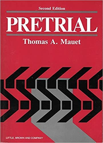 Book Pretrial: Fundamentals of Pretrials Techniques by T. Mauet (1993-02-03)