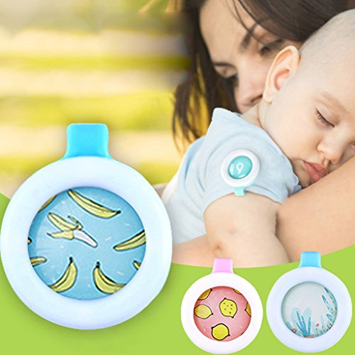 Fucung 2Pcs/Set Plant Essential Oil Anti Mosquito Buckle for Baby Pregnant, Summer Mosquito Repellent Reject Button for Baby Kids Protection Care
