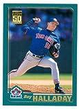 Roy Halladay baseball card 2001 Topps #185 (Toronto Blue Jays)