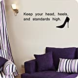 Keep Your Head, Heels and Standards High (12x22, Pink)