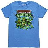 Teenage Mutant Ninja Turtles Group Image Adult T-Shirt - Blue (XX-Large)