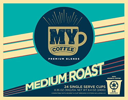 My Coffee Single Serve Coffee Pods, Medium Roast, 100 Count by My Coffee
