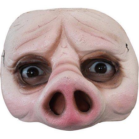 Half Pig Mask Halloween Accessory WLM]()