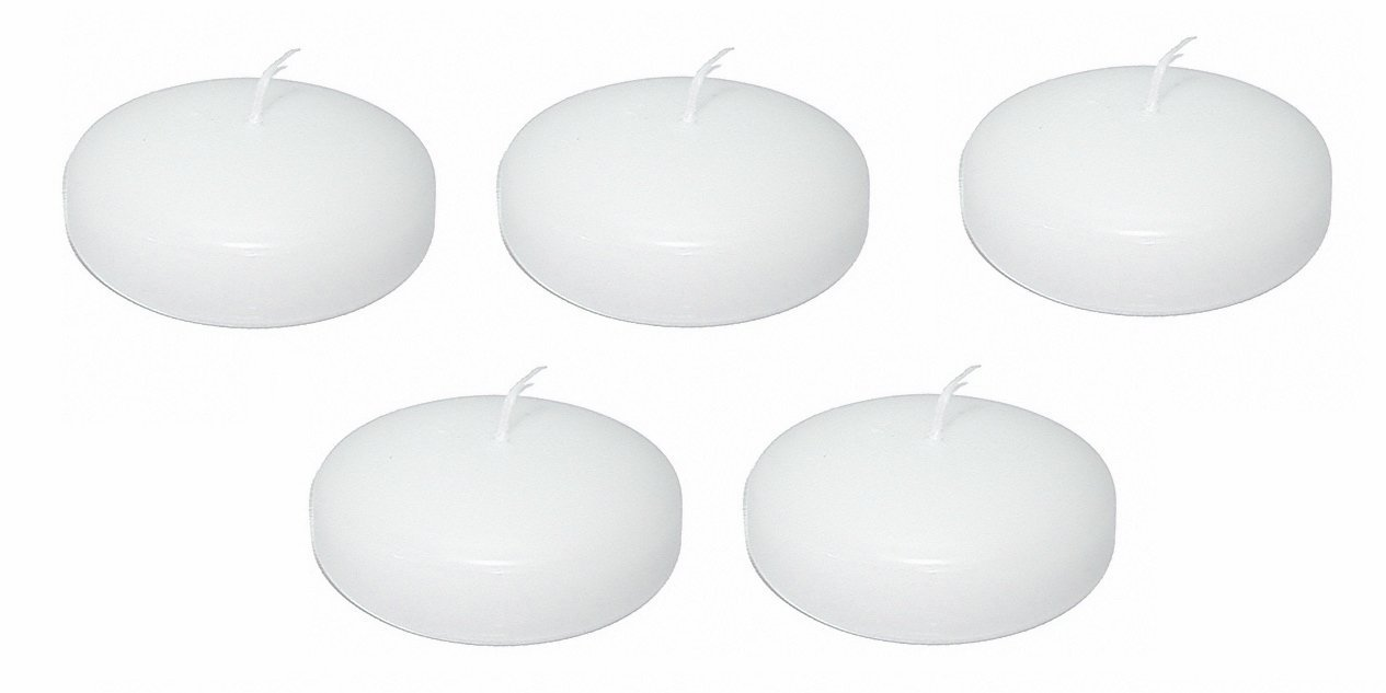 D'light Online Large 3 Inch Bulk Event Pack Floating Candles - Qty 36 (White) by D'light Online