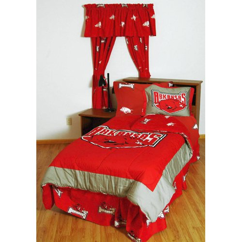 Image of College Covers Arkansas Razorbacks Bed in a Bag with Colored Sheets, Queen, Multicolor Bed-in-a-Bag