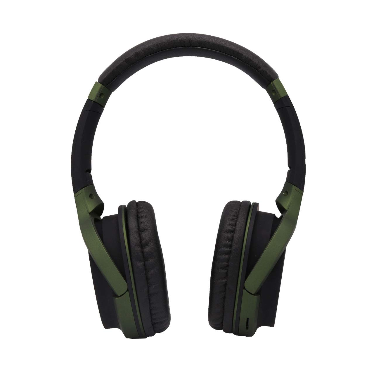 Headphones Over Ear, PIN&L Wired Stereo Headphones, Retractable Lightweight Foldable Sports Headphones with Mic - Blackish Green