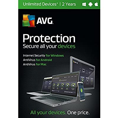 AVG Protection   Unlimited Devices  2 Years Twister Parent