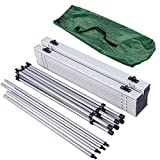"""55"""" Roll Up Portable Folding Camping Square Aluminum Picnic Table"""
