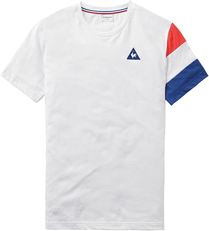 Le Coq Sportif Tri SP BBR Cotontech tee SS M WH, Camisa Deportiva ...