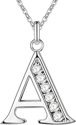 Letra del alfabeto inicial plateado plata del encanto del Colgantes