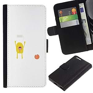 // PHONE CASE GIFT // Moda Estuche Funda de Cuero Billetera Tarjeta de crédito dinero bolsa Cubierta de proteccion Caso Apple Iphone 6 PLUS 5.5 / Hands up Monster /