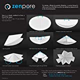 9 cm Lab Filter Paper, Standard Qualitative Grade 4 - ZENPORE Fast Flow 90 mm