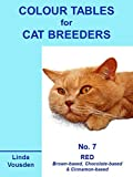 img - for Colour Tables For Cat Breeders - 7 Red (Brown-, Chocolate- & Cinnamon-based) book / textbook / text book