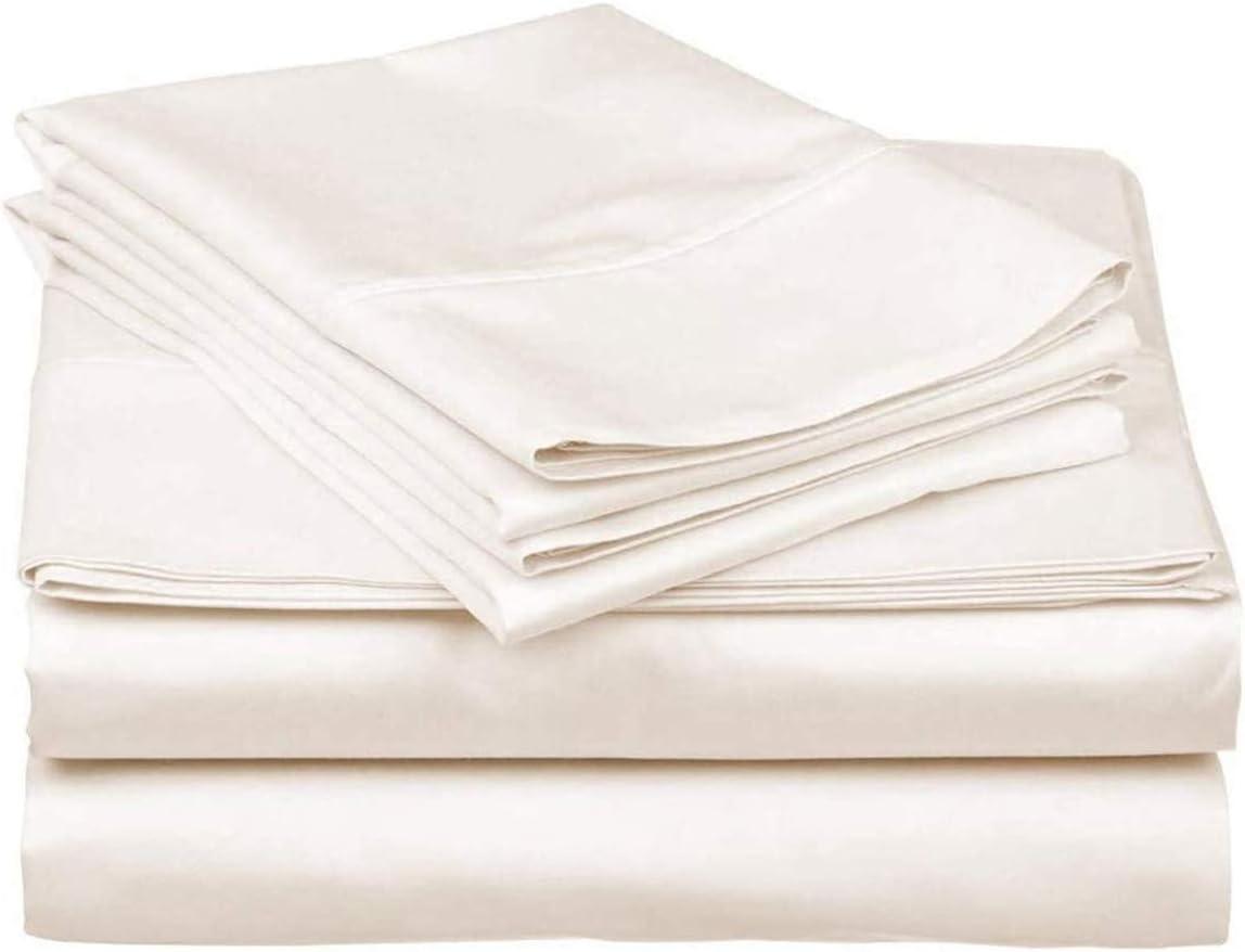 600 Thread Count 100% Long Staple Soft Cotton, 4 Piece Sheets Set