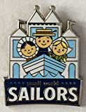 Disney Pin 116186 DLR - Disney Mascots Mystery Pin Pack - Small World Sailors Pin It's a Small World Ride Disneyland Pin