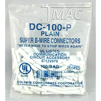 Amazon.com: B Wire Connectors Blue Sealant Filled Pack of 100 for ...