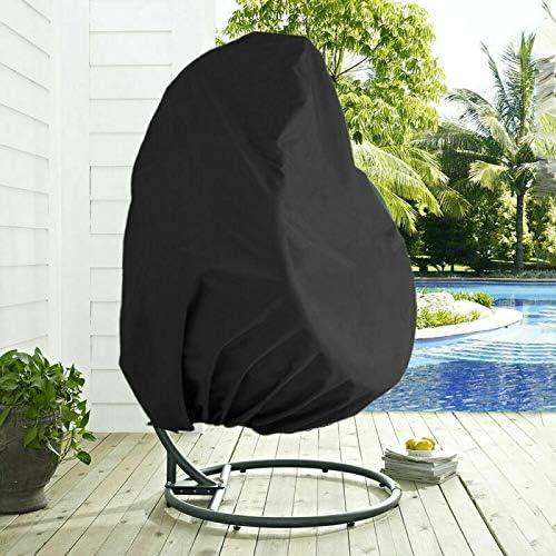 Noir Housse de Chaise Suspendue Impermeable Coupe-vent Housse de Chaise Oeuf Housse de Si/ège Suspendu 230x200cm Bestcool Housse de Fauteuil Suspendu