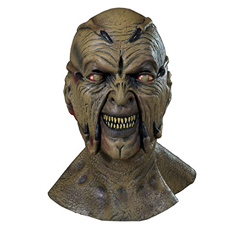 [Trick or Treat Studios Jeepers Creeper Movie Quality Face Mask Beige] (Trick Or Treat Costumes For Adults)