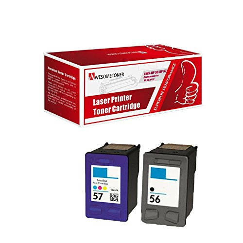Unknown Compatible Ink Cartridge Replacement for HP C6656a ( Black , 2-Pack )