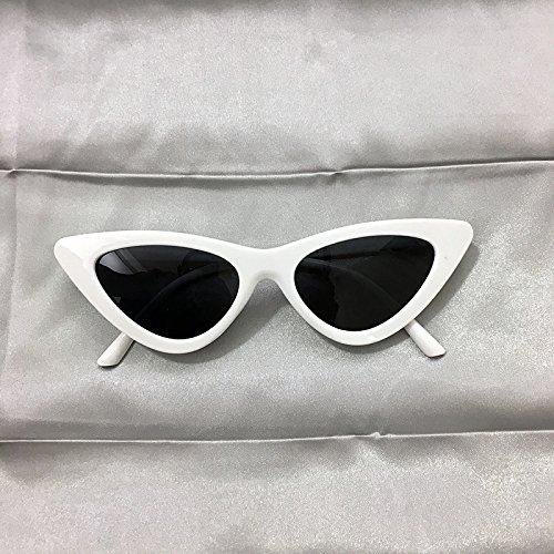 VVIIYJ High Street Sunglasses Occhiali da sole Occhiali da sole rossi Triangle Cat Eye Occhiali ,Black Box Yellow