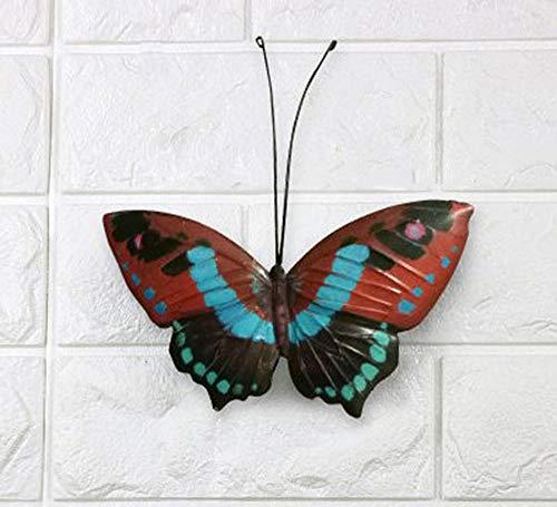 Multicolor Metal Butterfly Fence Hanger Wall Art Yard Outdoor Lawn Garden Decor