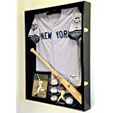 Extra Deep Jacket, Uniform, Jersey Shadow Box Display Case Cabinet w/ UV Protection
