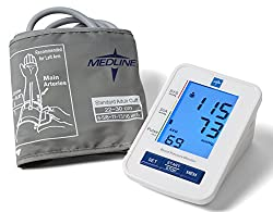Medline Mds4001 Automatic Digital Blood Pressure Monitor With Standard Adult Cuff