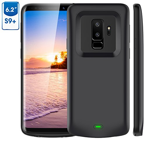 Plus Battery Pack - Galaxy S9 Plus Battery Case, 5200mAh Vproof Portable Charger Case Extended Charging Case Rechargeable Protective Juice Pack Power Case for Samsung Galaxy S9 Plus(2018) (Black)
