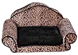 Woof Kingdom® washable Pet Mat – Luxury Sofa bed for Pets – Medium and Small Pets/Dogs – Leopard print, My Pet Supplies