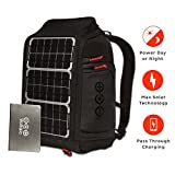 Voltaic Systems Array Rapid Solar Backpack Charger for Laptops | Includes a Battery Pack (Power Bank) and 2 Year Warranty | Powers Laptops Including Apple MacBook, Phones, USB Devices, More - Silver