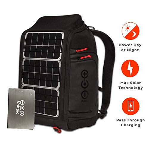 Price comparison product image Voltaic Systems Array Rapid Solar Backpack Charger for Laptops | Includes a Battery Pack (Power Bank) and 2 Year Warranty | Powers Laptops Including Apple MacBook, Phones, USB Devices, More - Silver