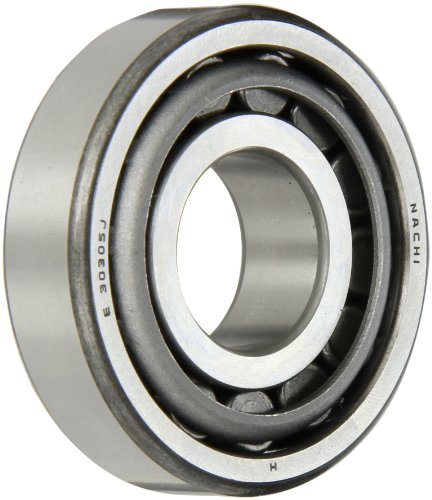 Nachi 30305 Tapered Roller Bearing Cone and Cup Set, Single Row, Metric, 25mm ID, 62mm OD, 17mm (Nachi Cylindrical Roller Bearing)
