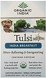 ORGANIC INDIA Tulsi India Breakfast Tea, 18 Count (Pack of 6)