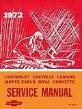 1972 CAMARO CHEVELLE MONTE CARLO NOVA Service Manual