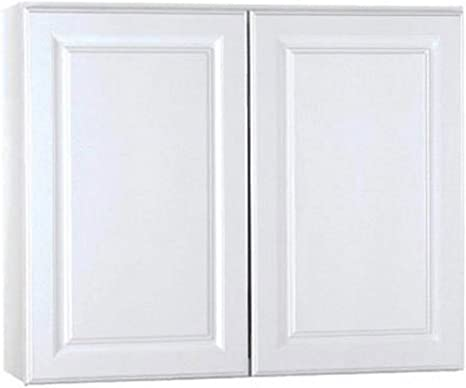 Amazon Com Rsi Home Products Sales 36 W X 30 H X 12 D White Finish Assembled Wall Cabinet Home Kitchen