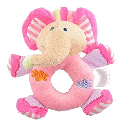 shlutesoy Baby Infant Kids Gifts Cute Soft Pink Elephant Plush Rattle Education Toy Pillow: Kitchen & Dining
