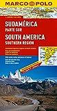 Amérique du Sud - Carte routière et touristique du sud de l'Amérique du sud (Argentine, Bolivie, Brésil, Chili, Paraguay, Pérou, Uruguay)