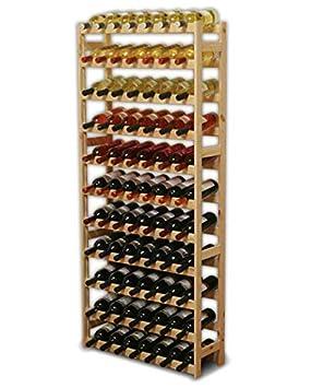 Modo24 Étagère à vin en bois, non traité, Bois, unbehandelt, 72.5 x ...