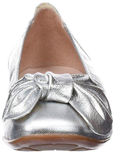 Chiusa Donna Versalles Argento Punta plata Ballerine Sabrinas Bq4wat8
