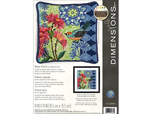 Dimensions DIM20085 Needlepoint Kit Blue Floral