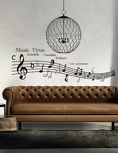 Mk Wall Stickers Wall Decals Style Music Virus English Words