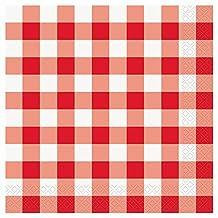 Red & White Checkered Dinner Napkins, 16ct